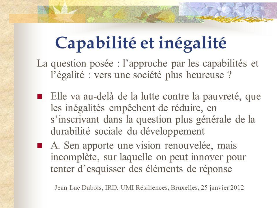 Capabilité et inégalité