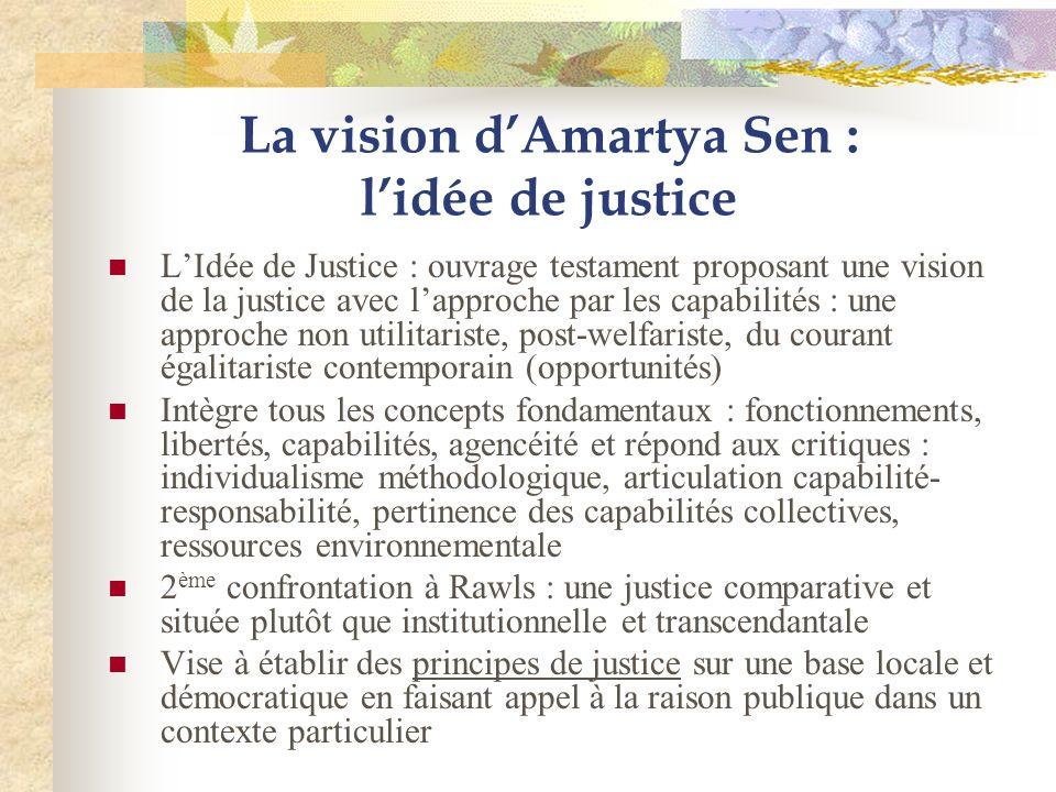La vision d'Amartya Sen : l'idée de justice