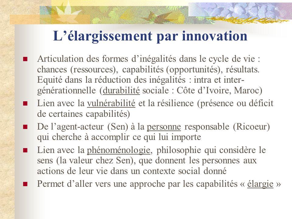 L'élargissement par innovation