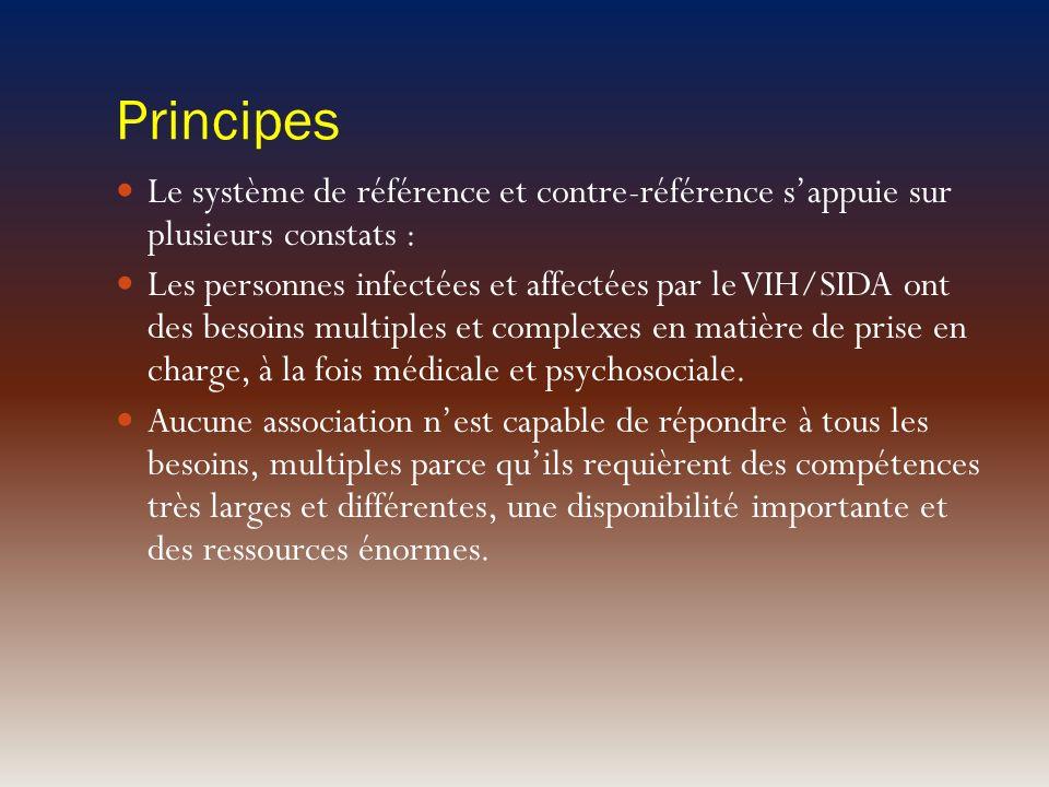 Principes Le système de référence et contre-référence s'appuie sur plusieurs constats :