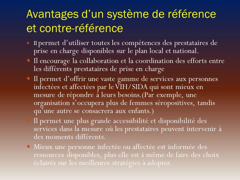 Avantages d'un système de référence et contre-référence