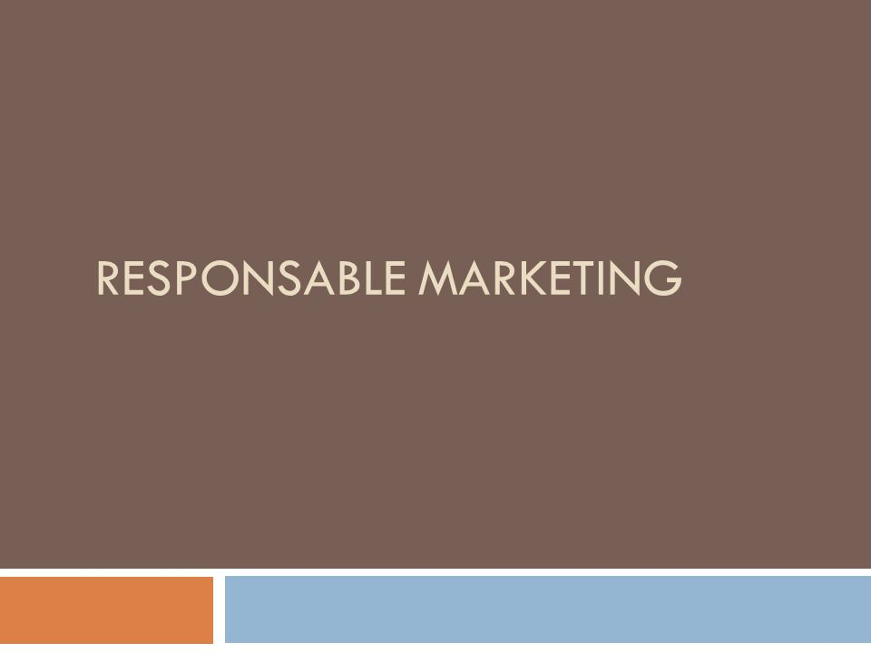 Responsable marketing