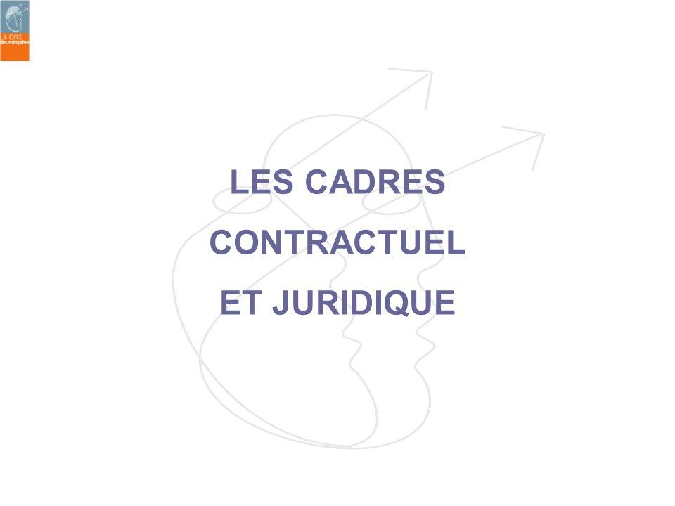 LES CADRES CONTRACTUEL ET JURIDIQUE