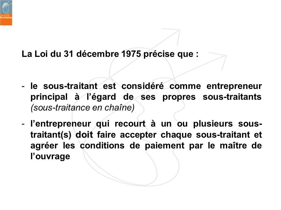 La Loi du 31 décembre 1975 précise que :