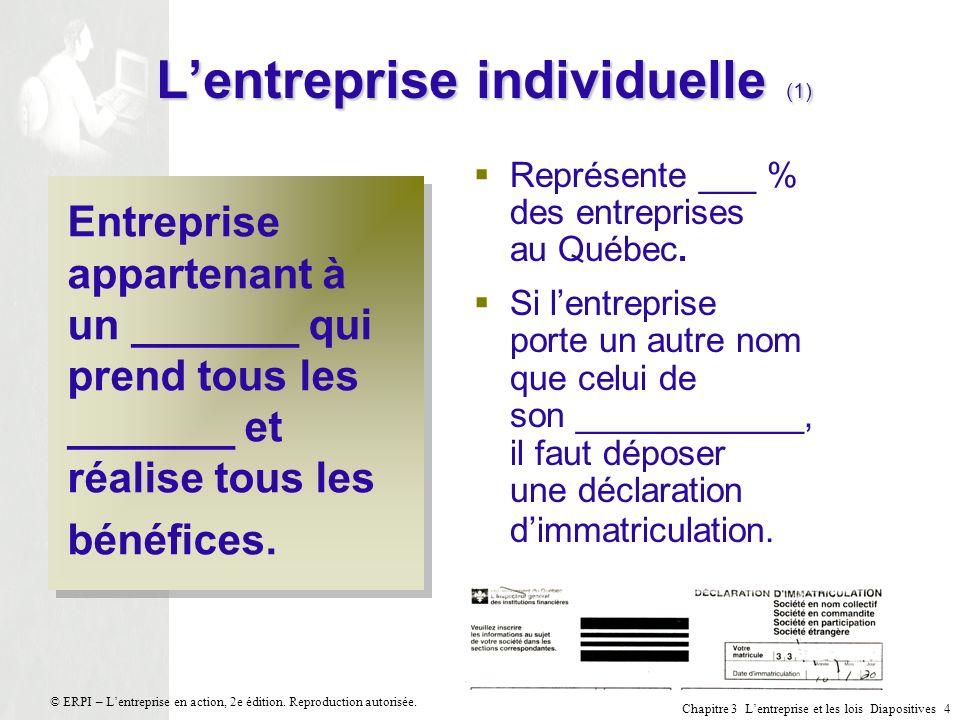 L'entreprise individuelle (1)
