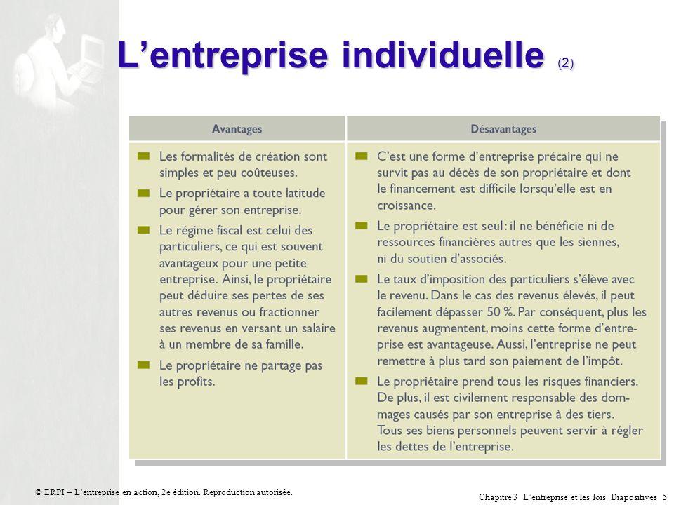L'entreprise individuelle (2)