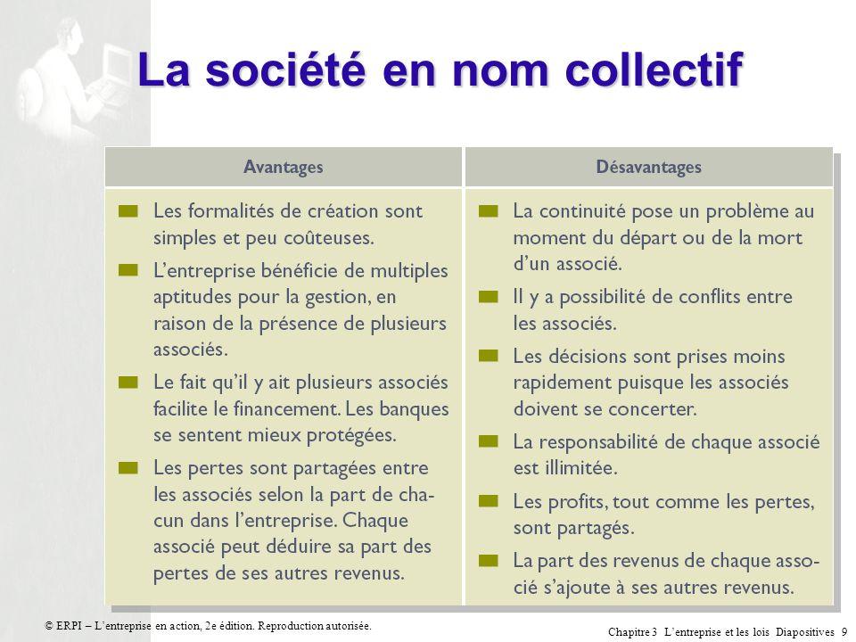 La société en nom collectif
