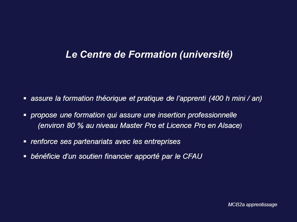 Le Centre de Formation (université)