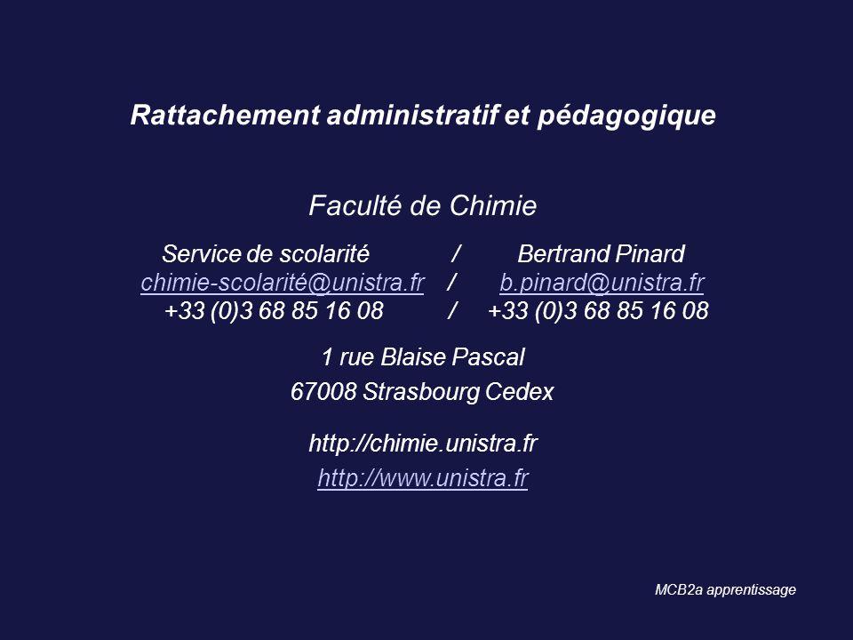 Rattachement administratif et pédagogique