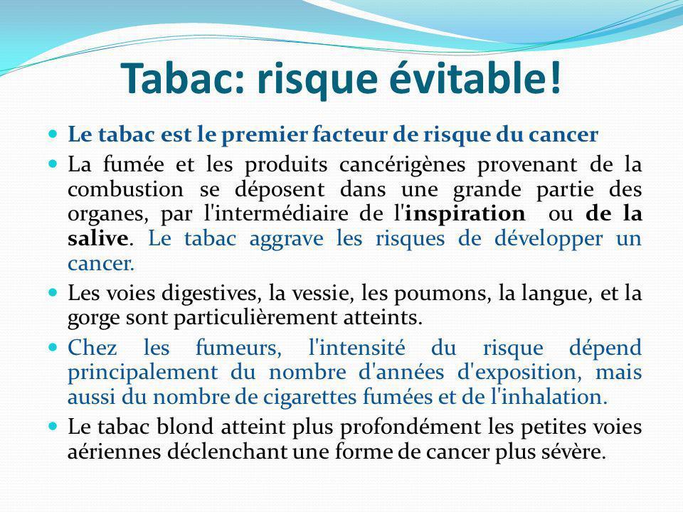 Tabac: risque évitable!