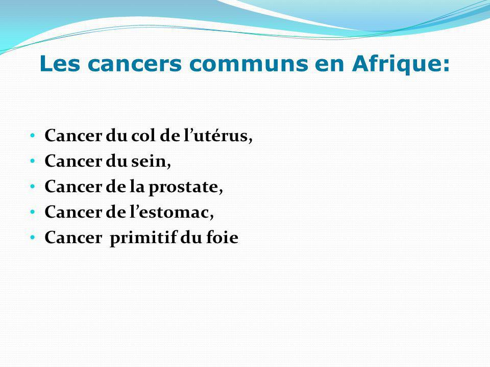 Les cancers communs en Afrique: