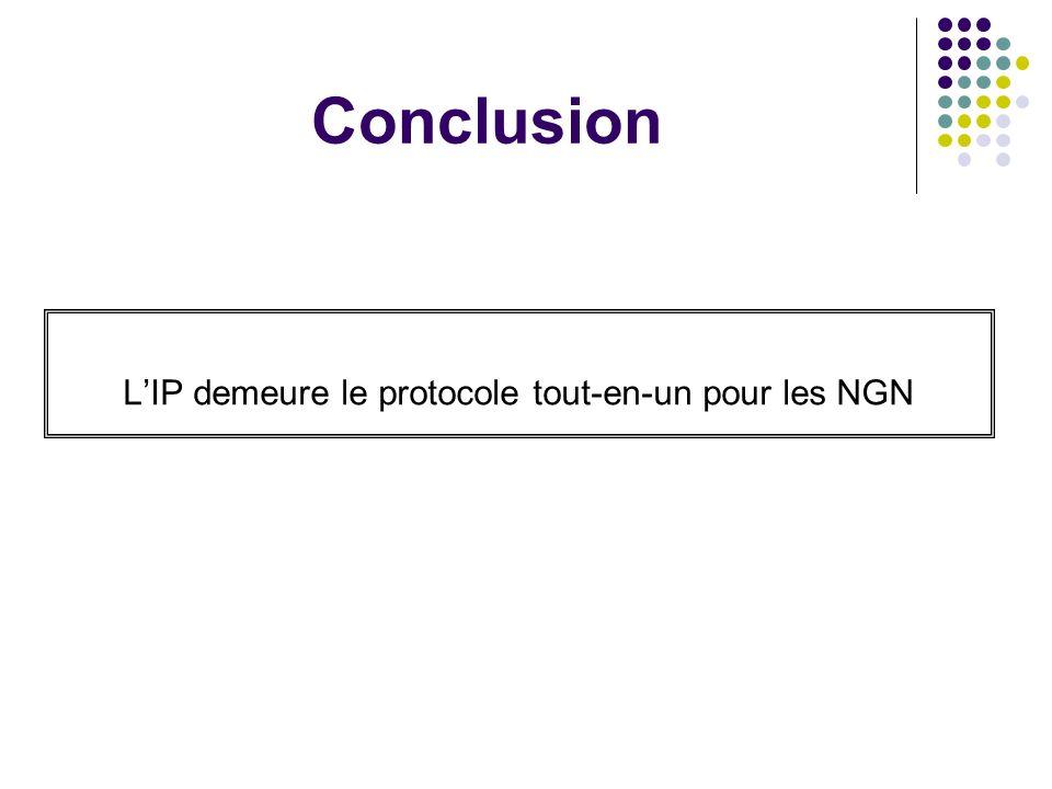 L'IP demeure le protocole tout-en-un pour les NGN