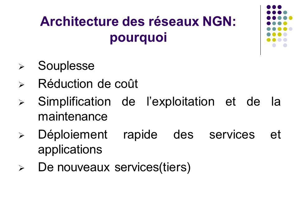 Architecture des réseaux NGN: pourquoi