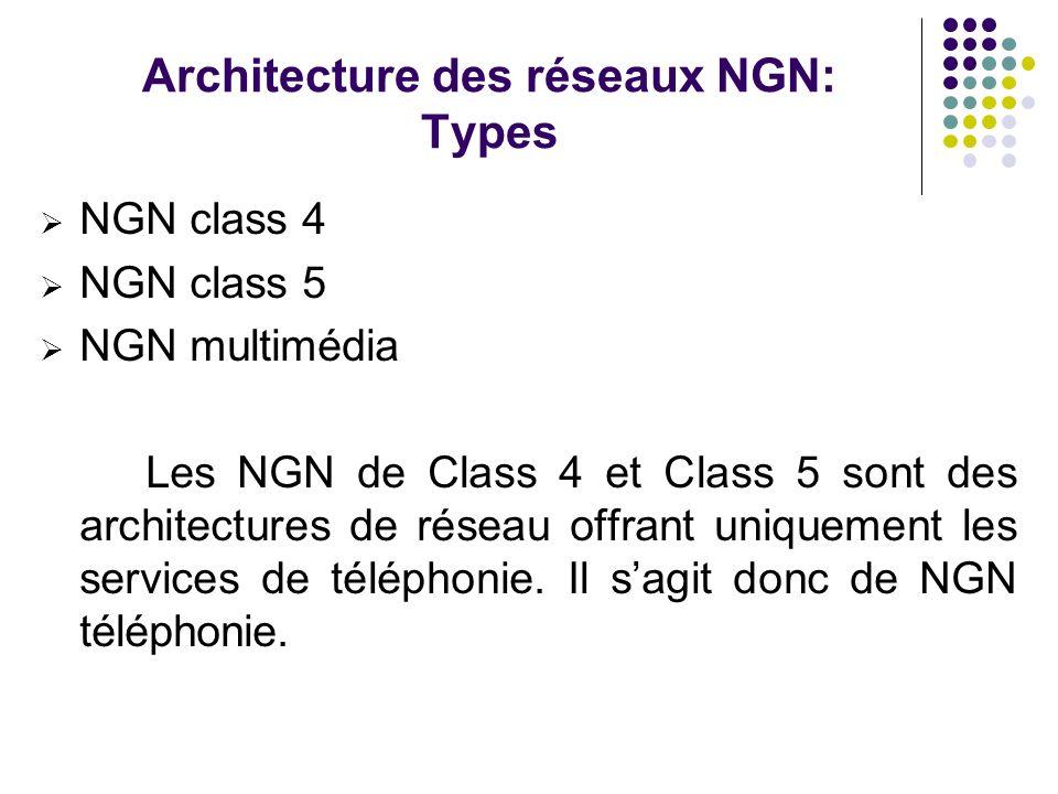 Architecture des réseaux NGN: Types