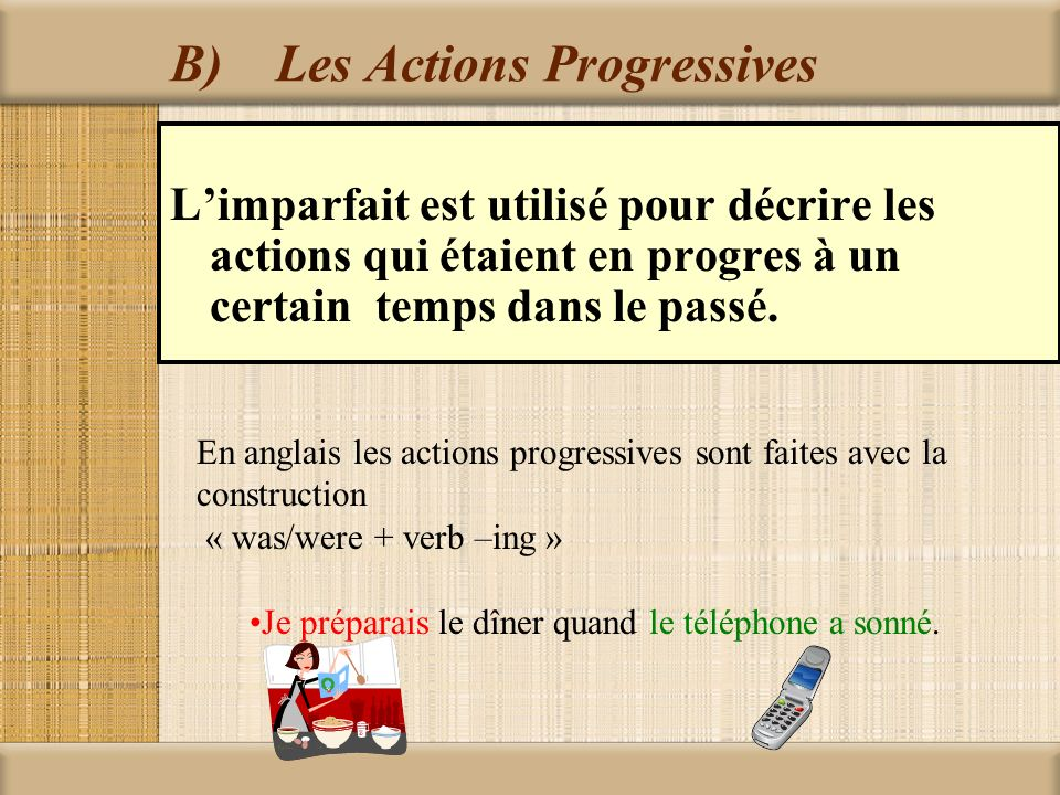 B) Les Actions Progressives