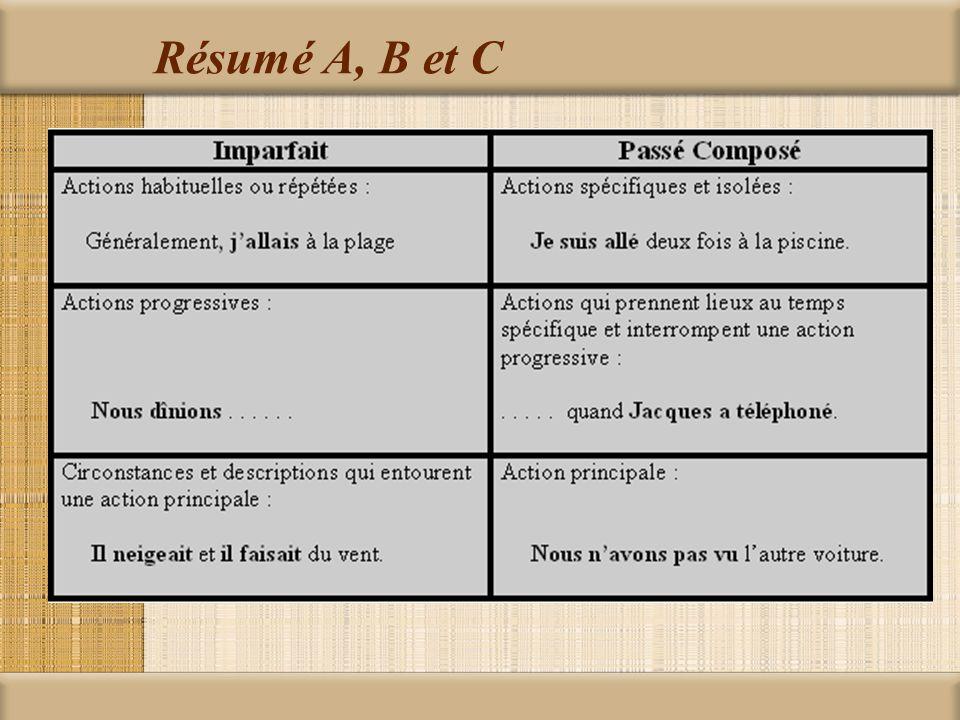 Résumé A, B et C