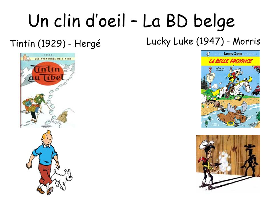 Un clin d'oeil – La BD belge