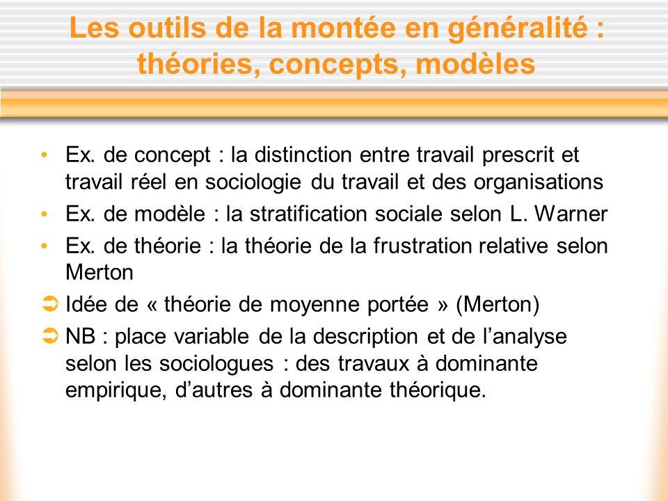 Les outils de la montée en généralité : théories, concepts, modèles