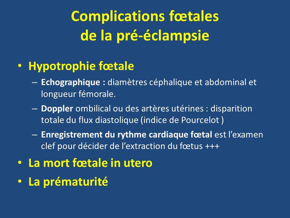 Complications fœtales de la pré-éclampsie