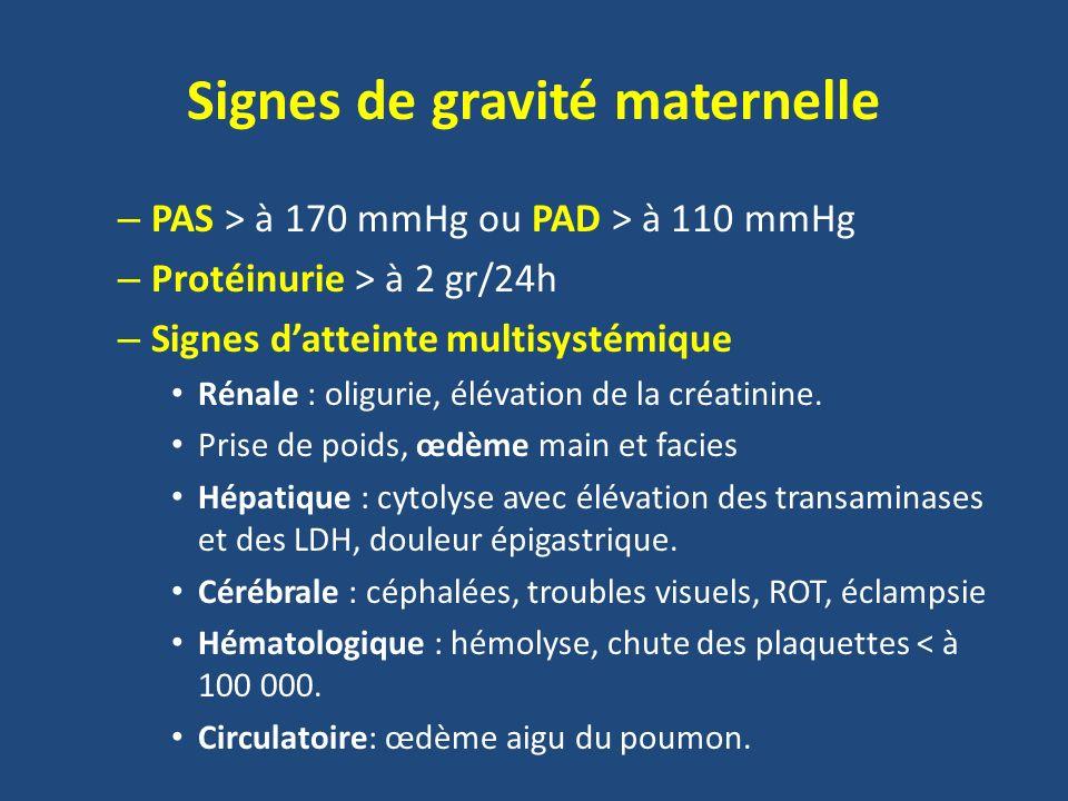 Signes de gravité maternelle