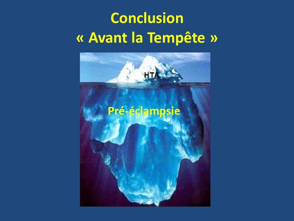 Conclusion « Avant la Tempête »