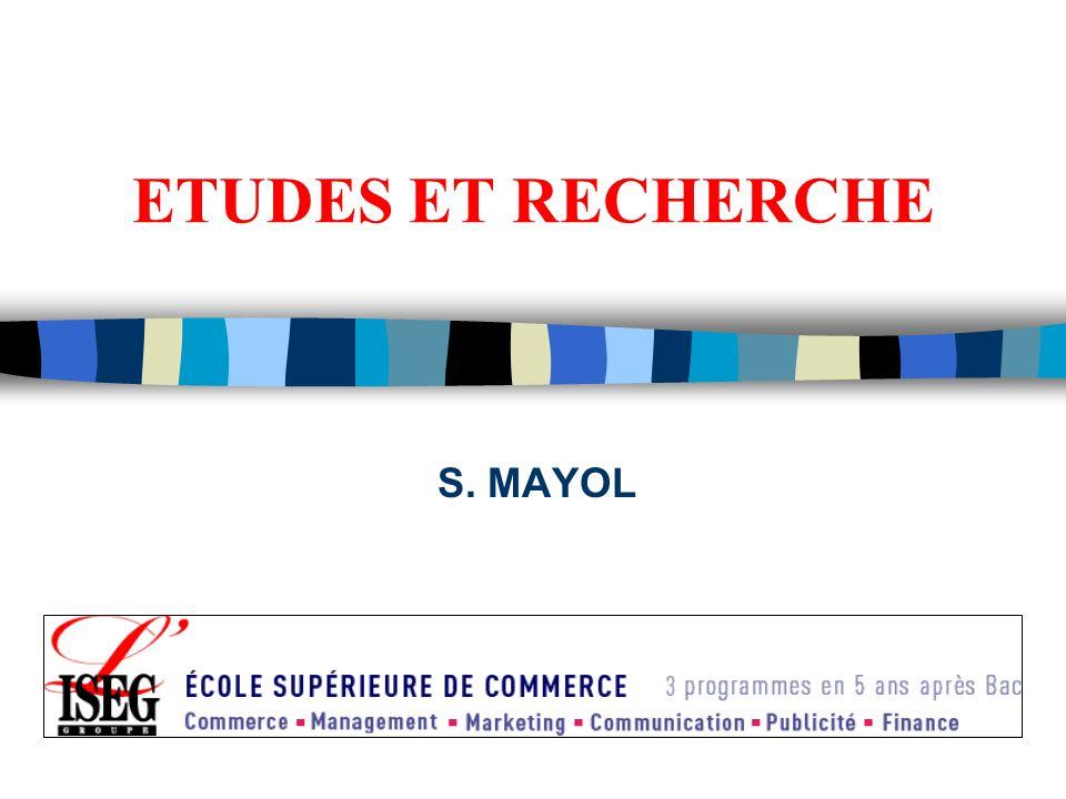 ETUDES ET RECHERCHE S. MAYOL