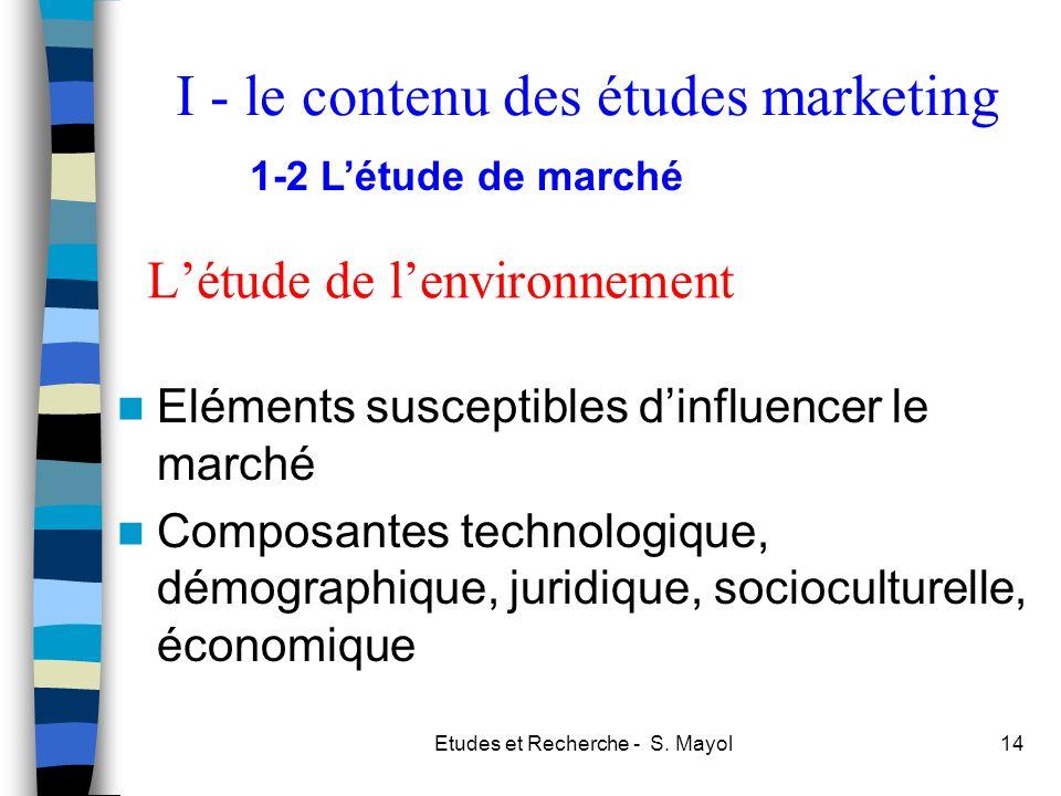 L'étude de l'environnement