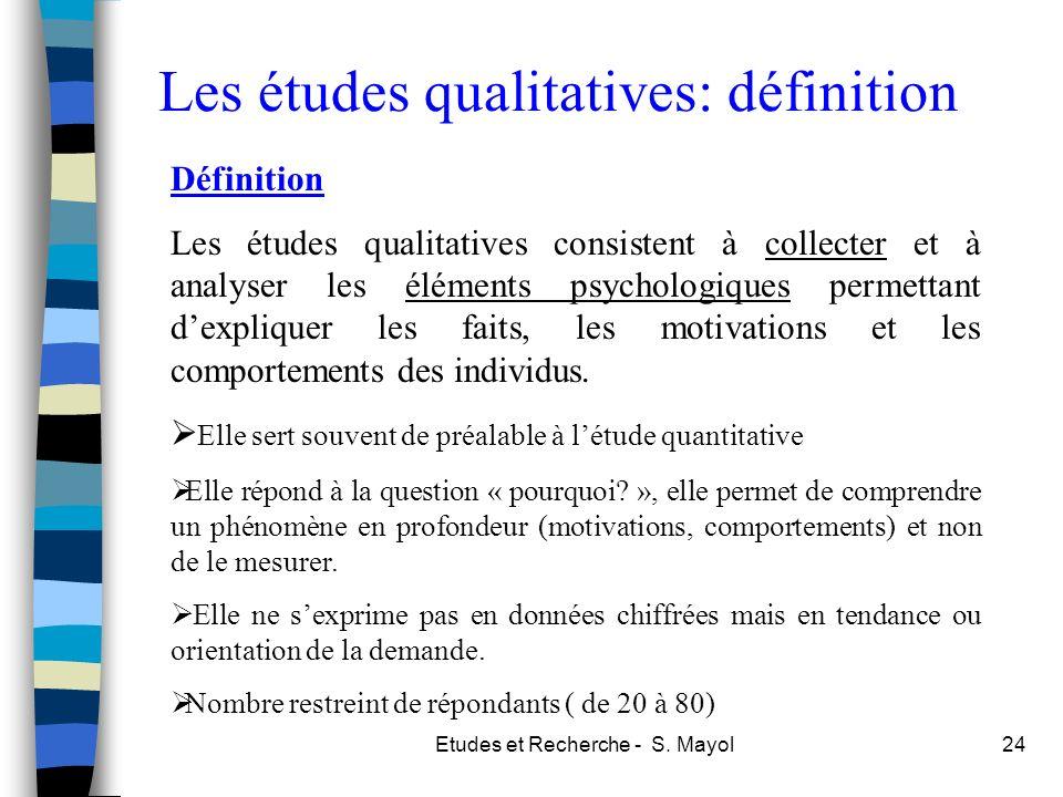 Les études qualitatives: définition