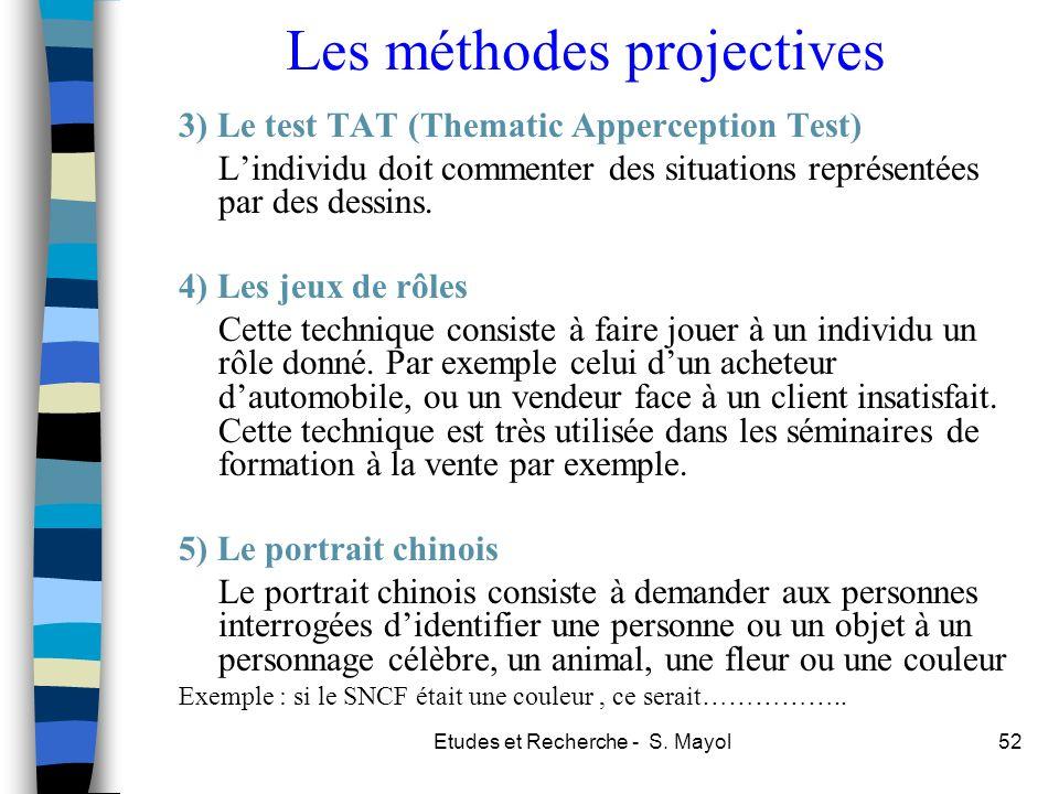 Les méthodes projectives