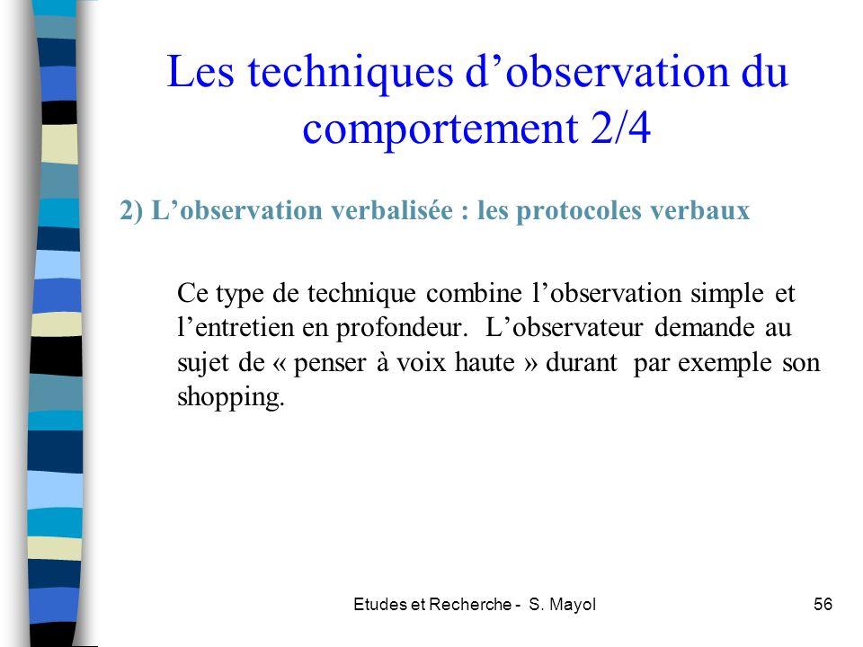 Les techniques d'observation du comportement 2/4