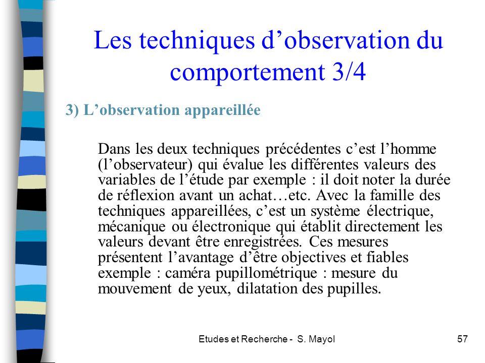Les techniques d'observation du comportement 3/4