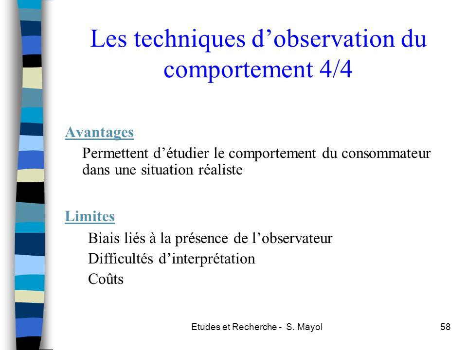 Les techniques d'observation du comportement 4/4