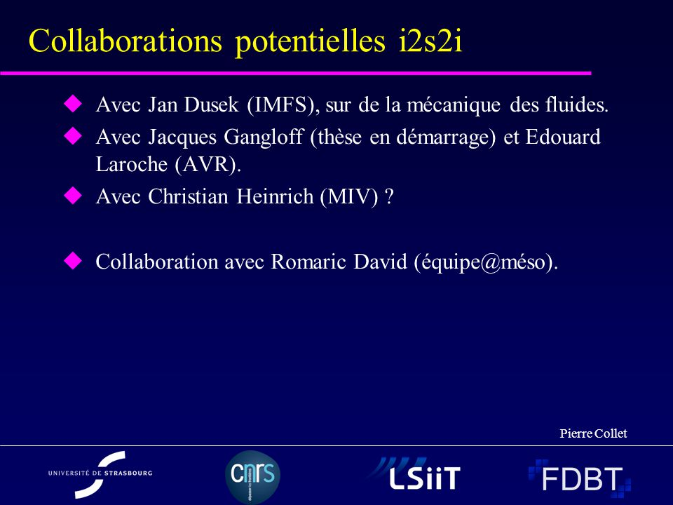 Collaborations potentielles i2s2i