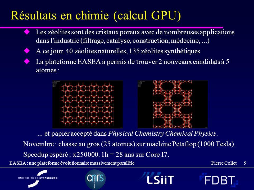 Résultats en chimie (calcul GPU)