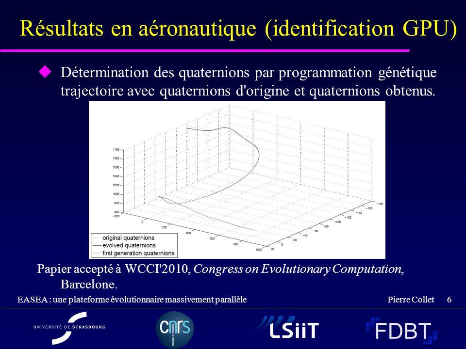 Résultats en aéronautique (identification GPU)