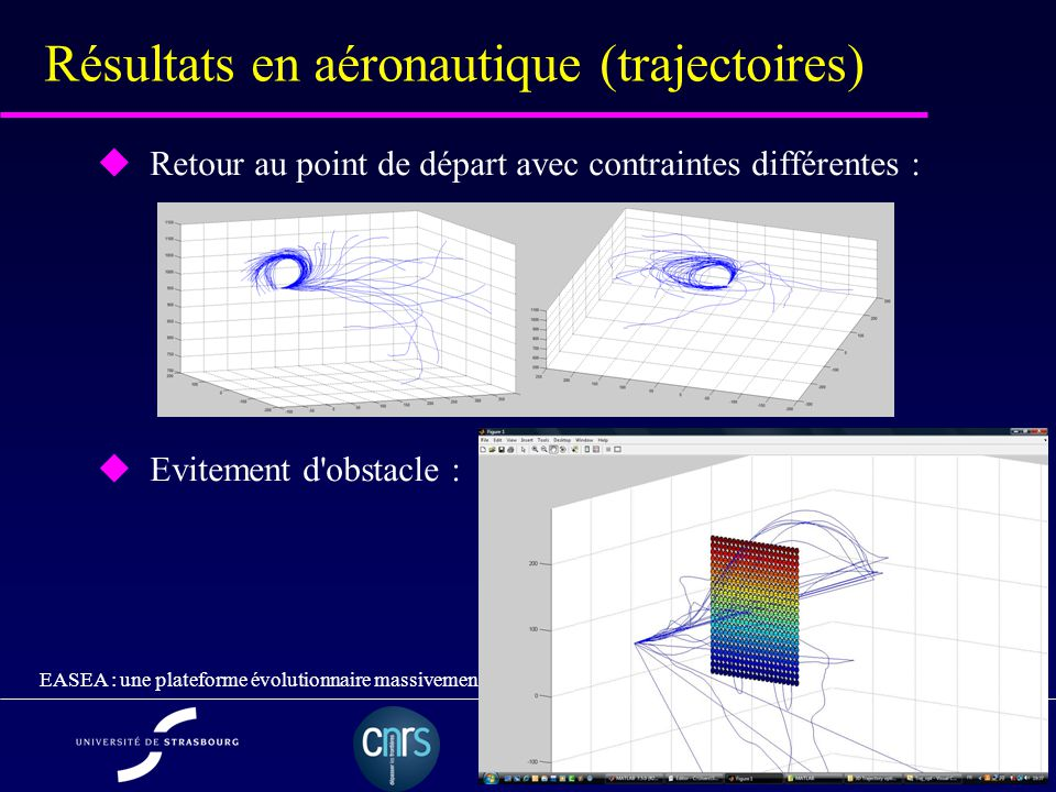 Résultats en aéronautique (trajectoires)