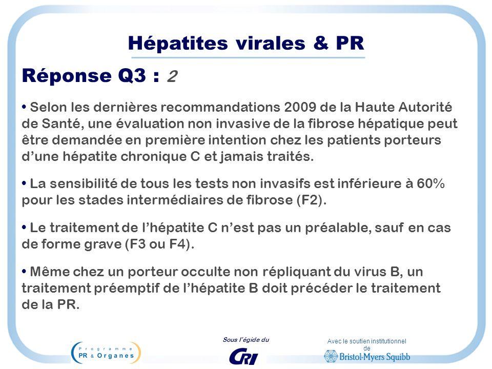 Hépatites virales & PR Réponse Q3 : 2
