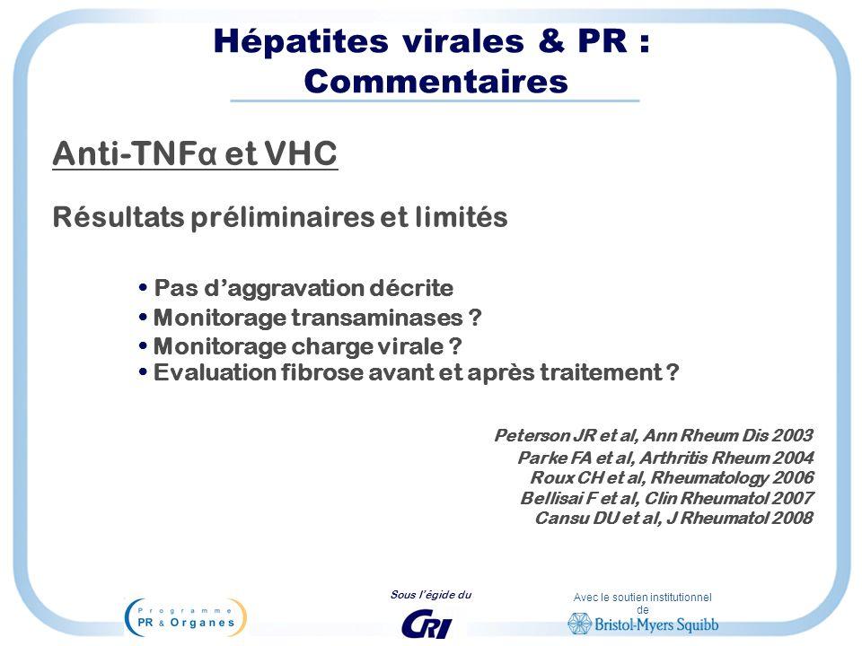 Hépatites virales & PR : Commentaires