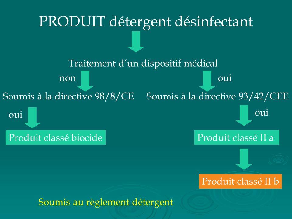 PRODUIT détergent désinfectant
