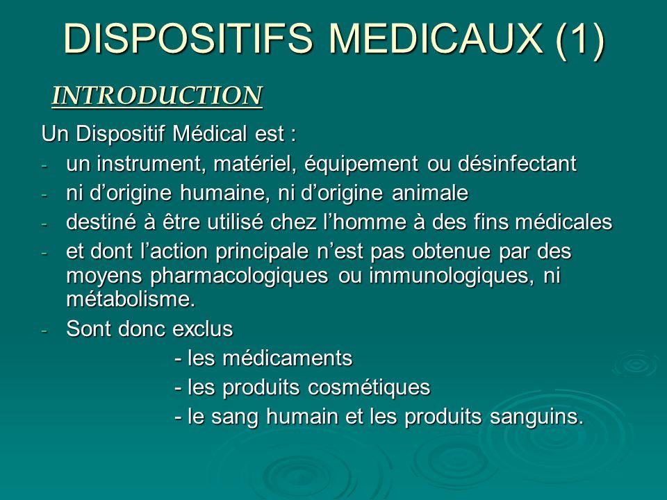DISPOSITIFS MEDICAUX (1)