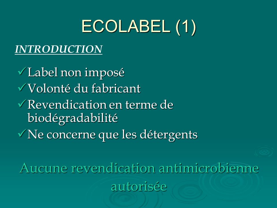 Aucune revendication antimicrobienne