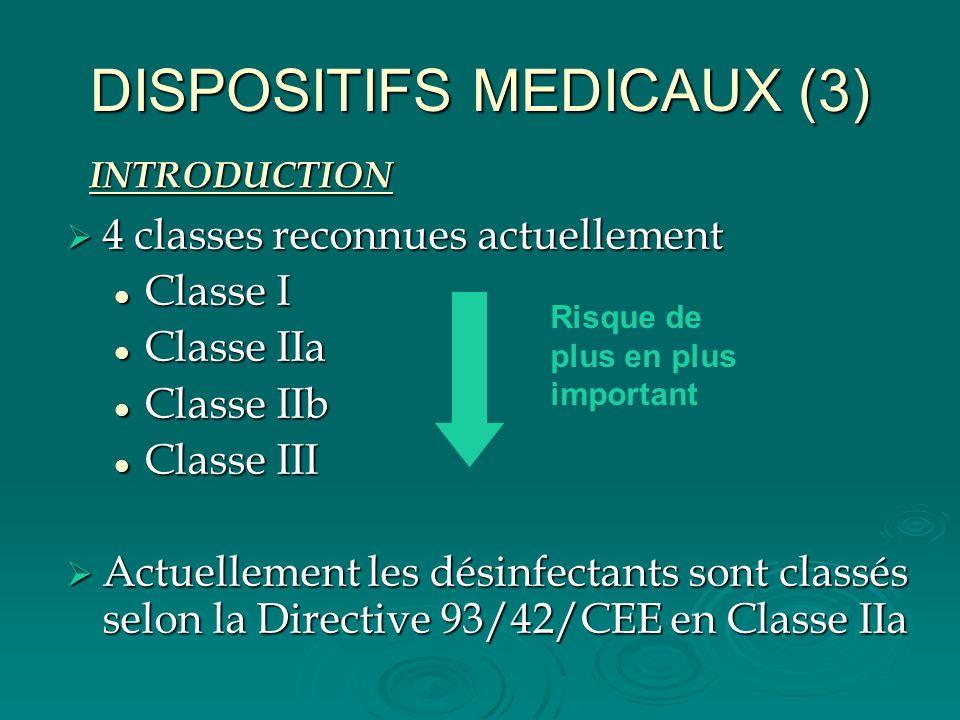 DISPOSITIFS MEDICAUX (3)