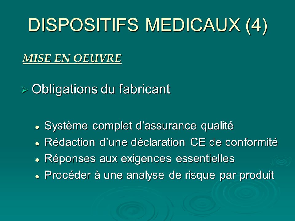 DISPOSITIFS MEDICAUX (4)