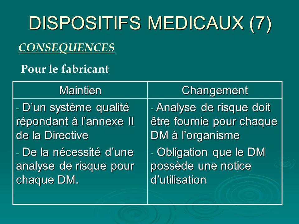 DISPOSITIFS MEDICAUX (7)
