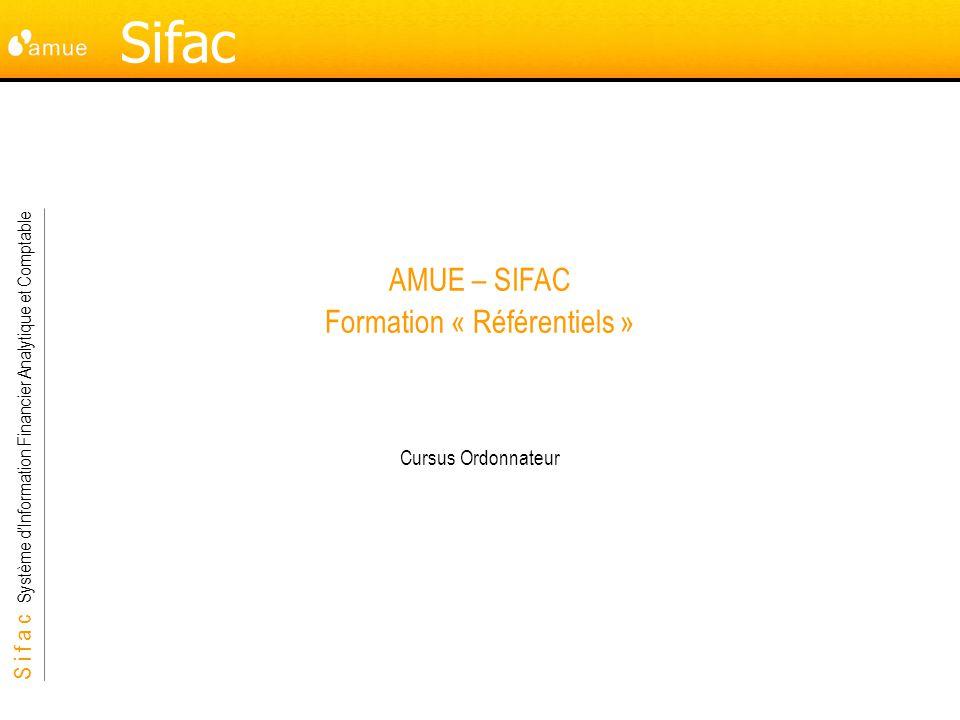 AMUE – SIFAC Formation « Référentiels »