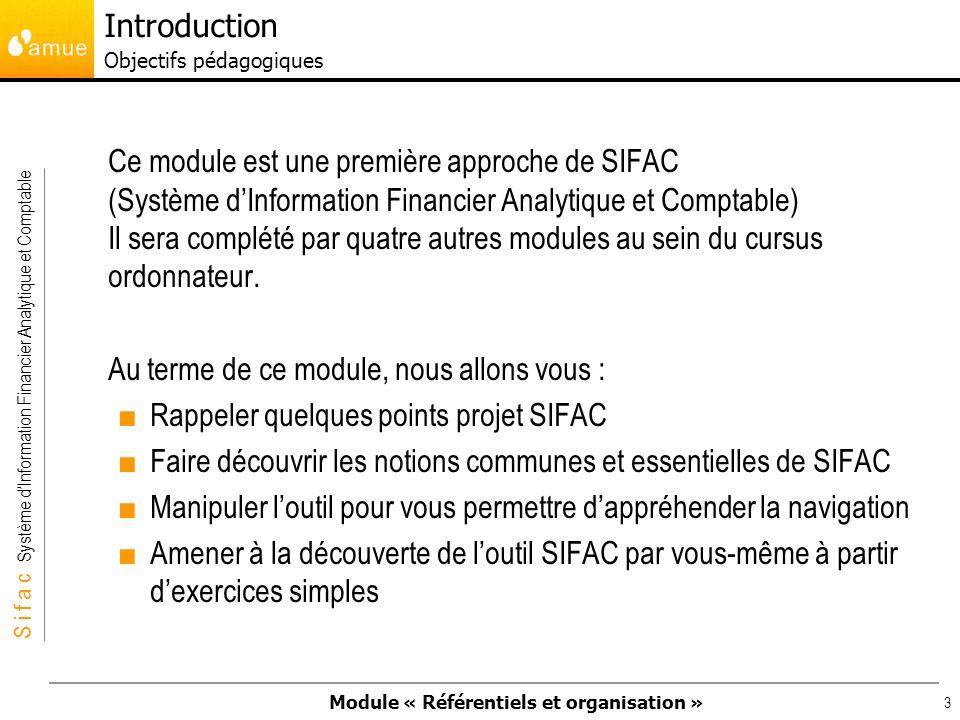 Introduction Objectifs pédagogiques