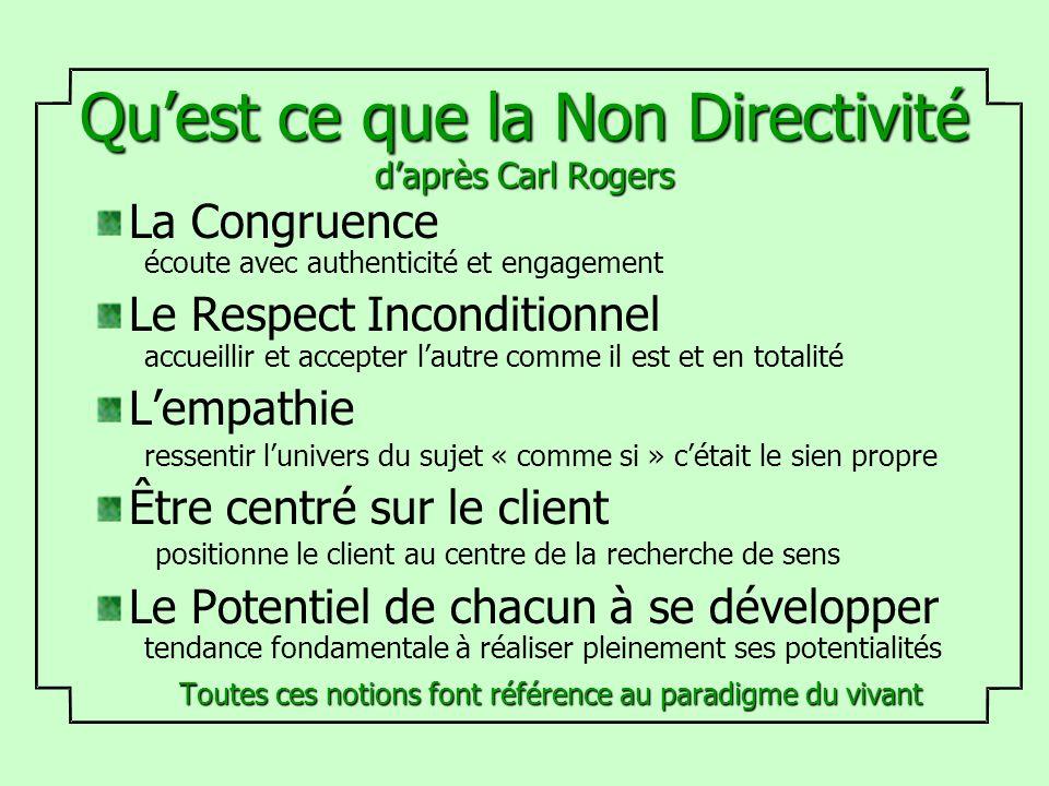 Qu'est ce que la Non Directivité d'après Carl Rogers