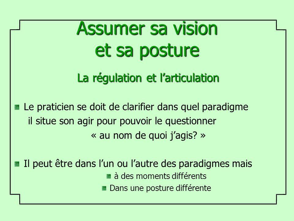 Assumer sa vision et sa posture
