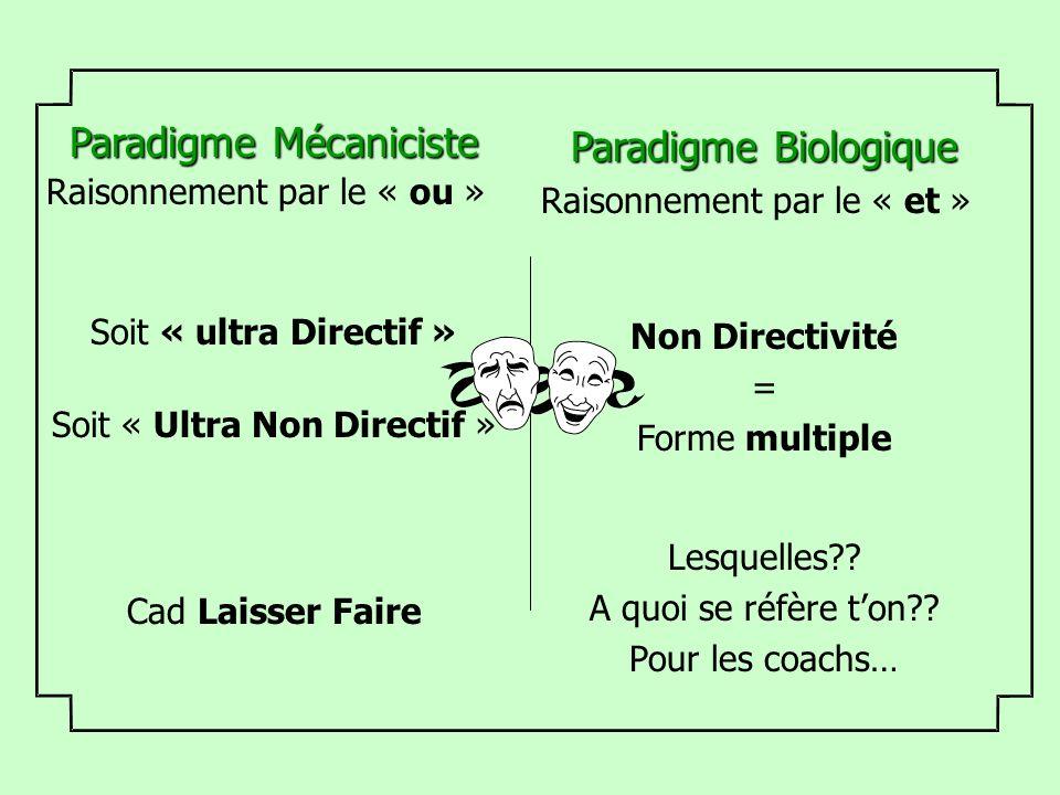 Paradigme Mécaniciste Paradigme Biologique