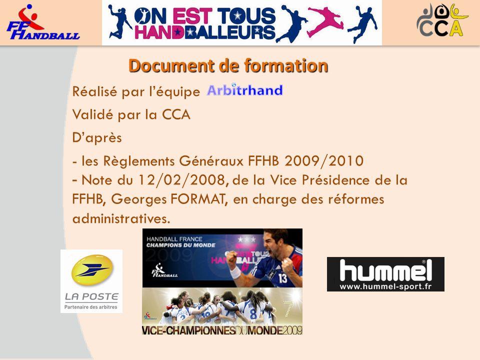 Document de formation Réalisé par l'équipe Validé par la CCA D'après
